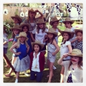 Little cowgirls dance party