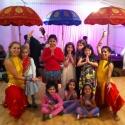 Olivia + Krupa's Bollywood party posing