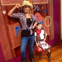 Olivia and birthday cowgirl