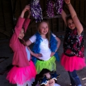 Pompoms and a cheerleading party