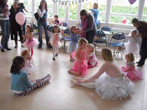 Teacher wearing a Ballet costume