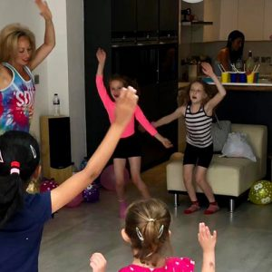 Children dancing at a dance party